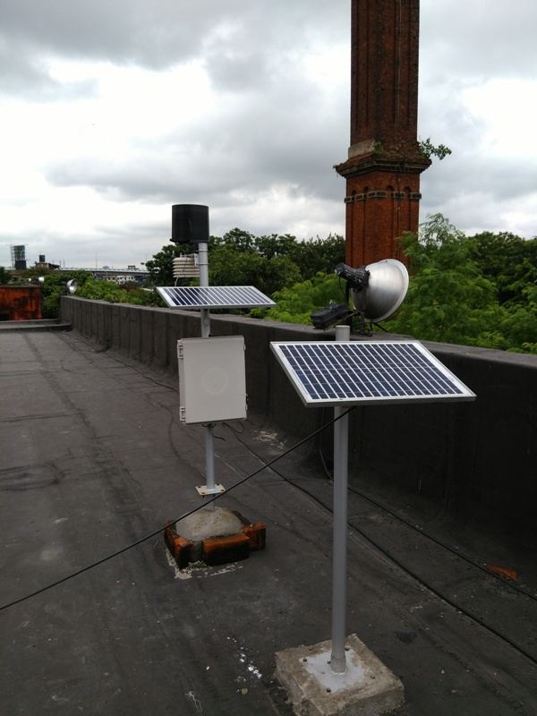 Rainfall sensor at Ballygunge Pumping Station